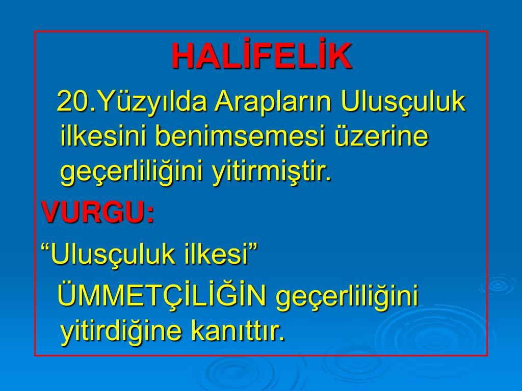 HALİFELİK
