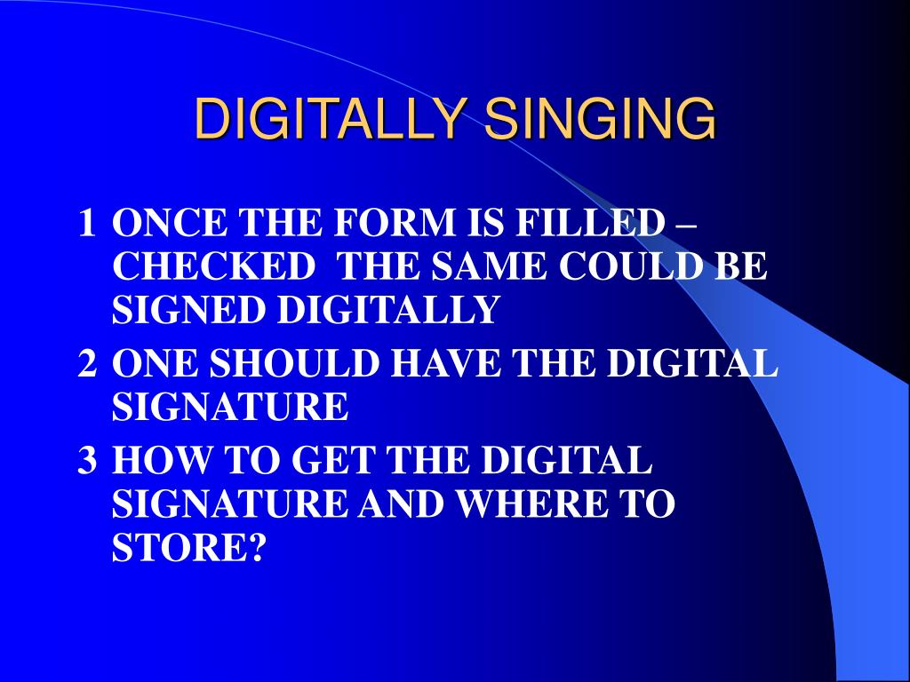 DIGITALLY SINGING