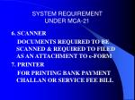 system requirement under mca 2110