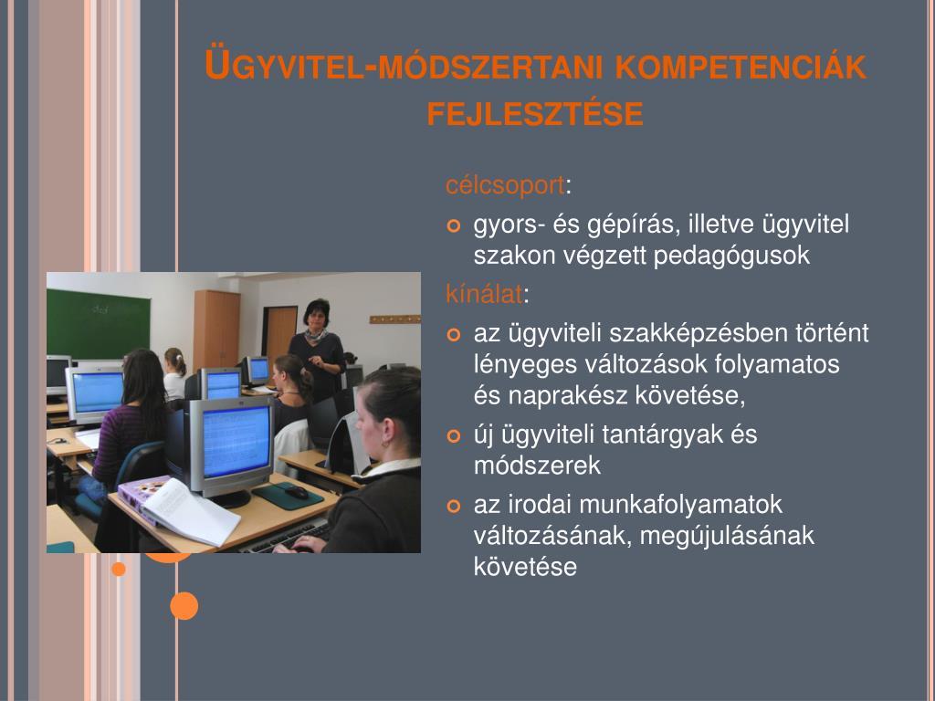 Ügyvitel-módszertani kompetenciák fejlesztése