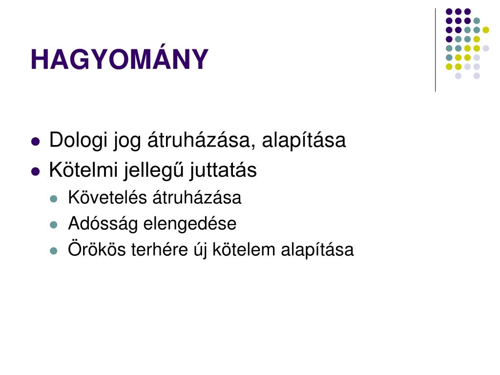 HAGYOMÁNY