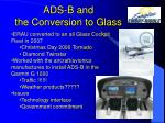 ads b and the conversion to glass