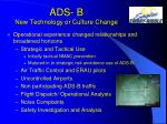 ads b new technology or culture change