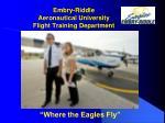 embry riddle aeronautical university flight training department