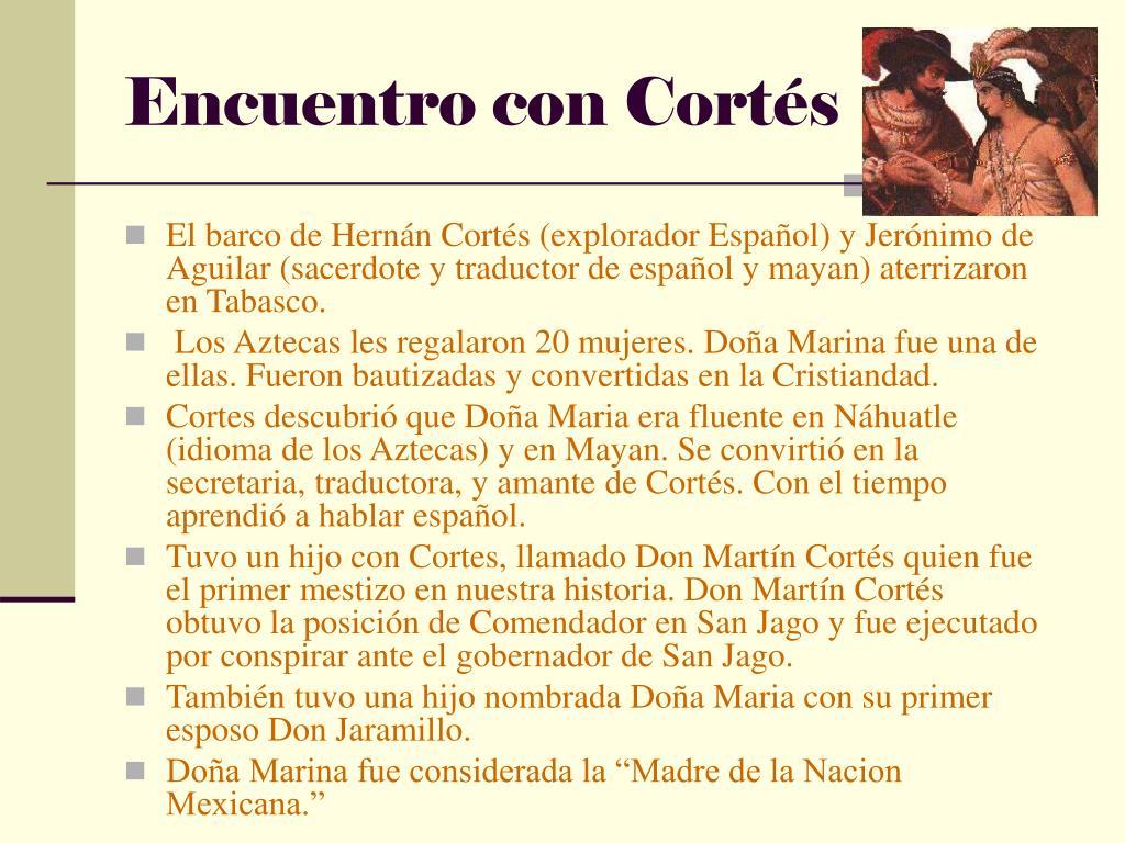 Encuentro con Cortés