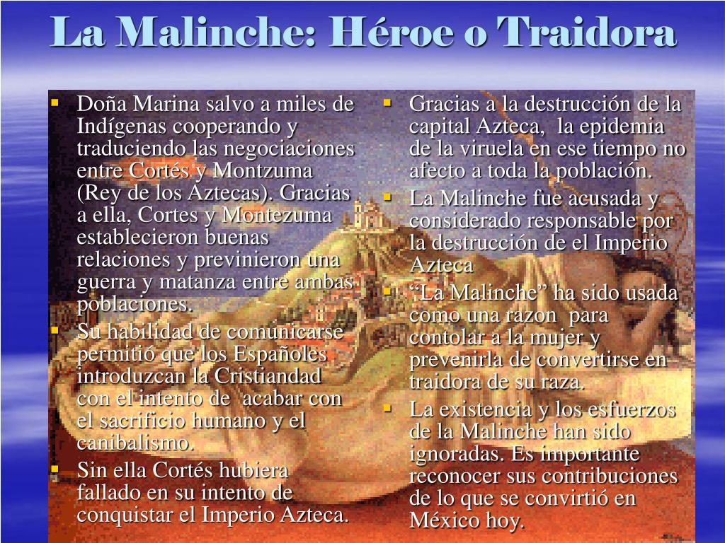 Doña Marina salvo a miles de Indígenas cooperando y traduciendo las negociaciones entre Cort