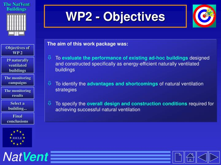 Wp2 objectives