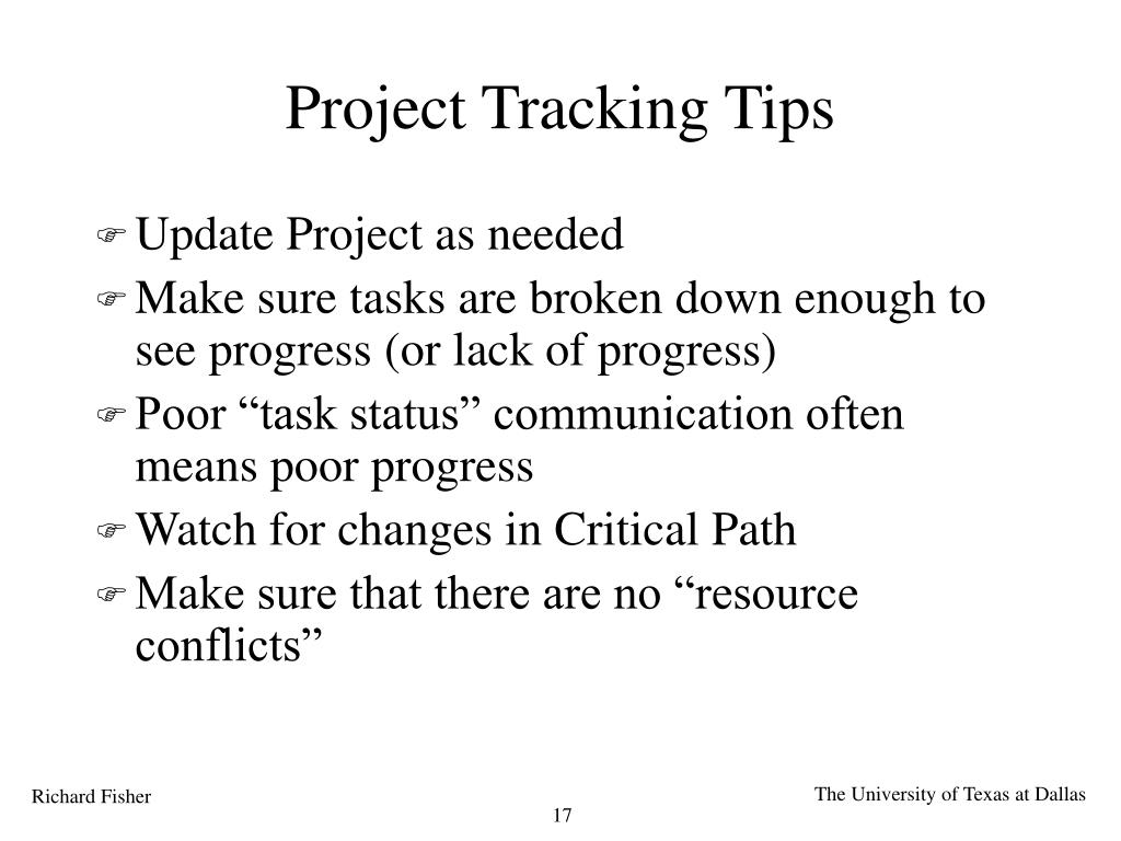 Project Tracking Tips