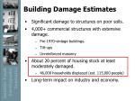 building damage estimates