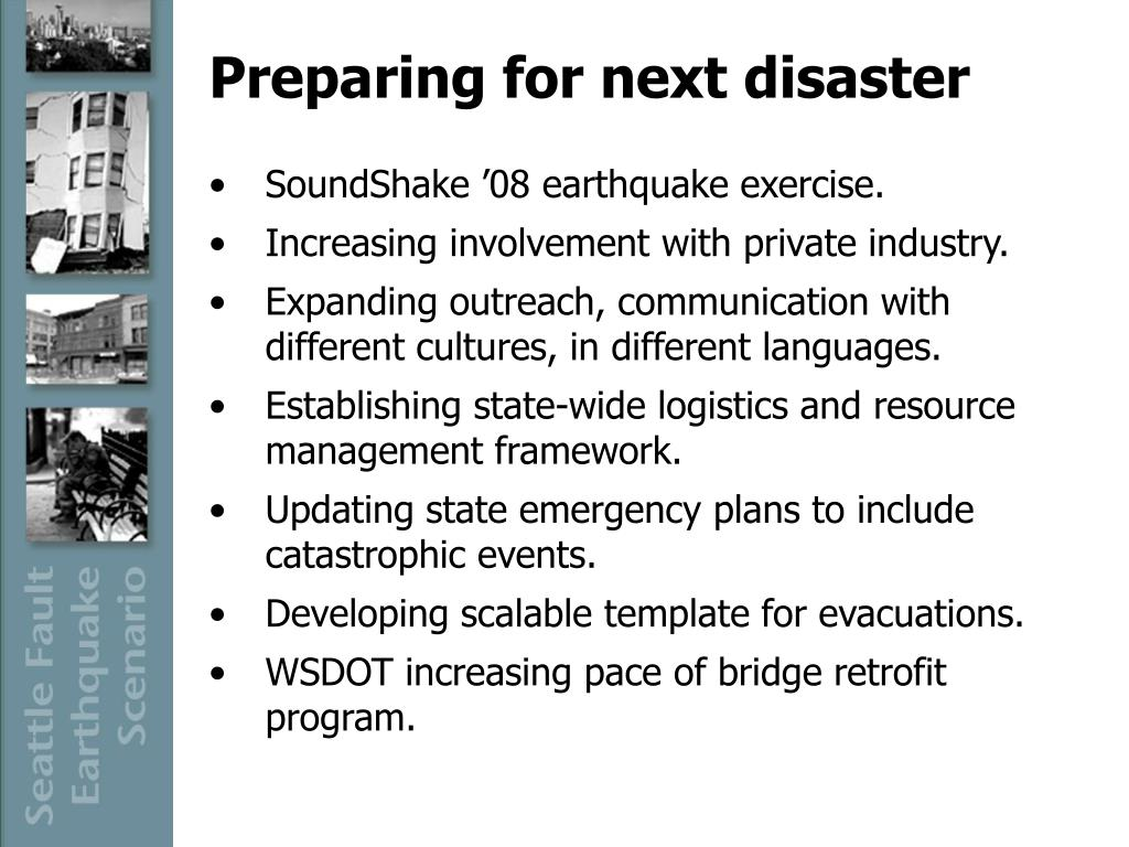 Preparing for next disaster