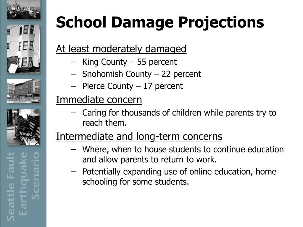School Damage Projections