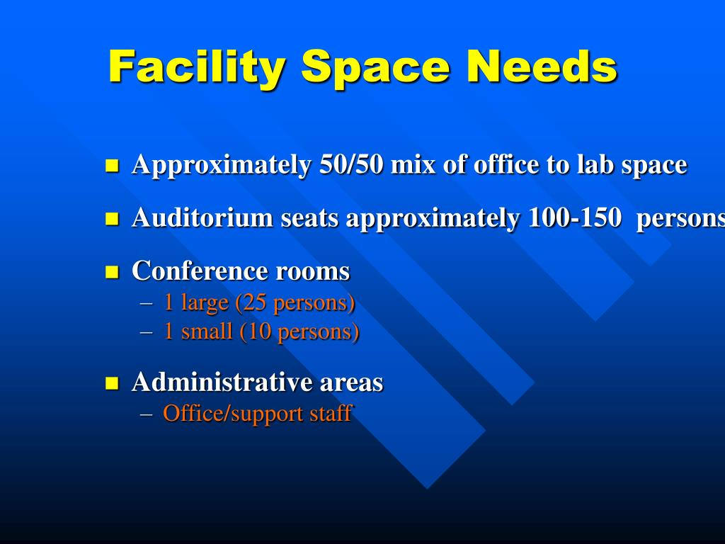 Facility Space Needs