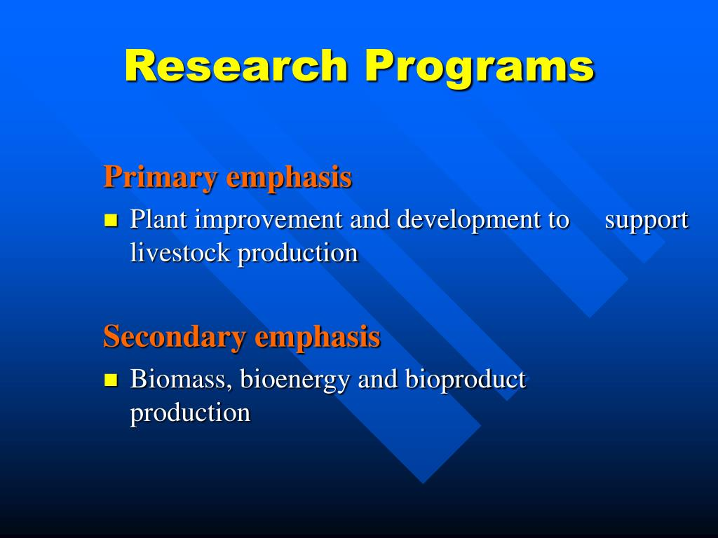 Research Programs