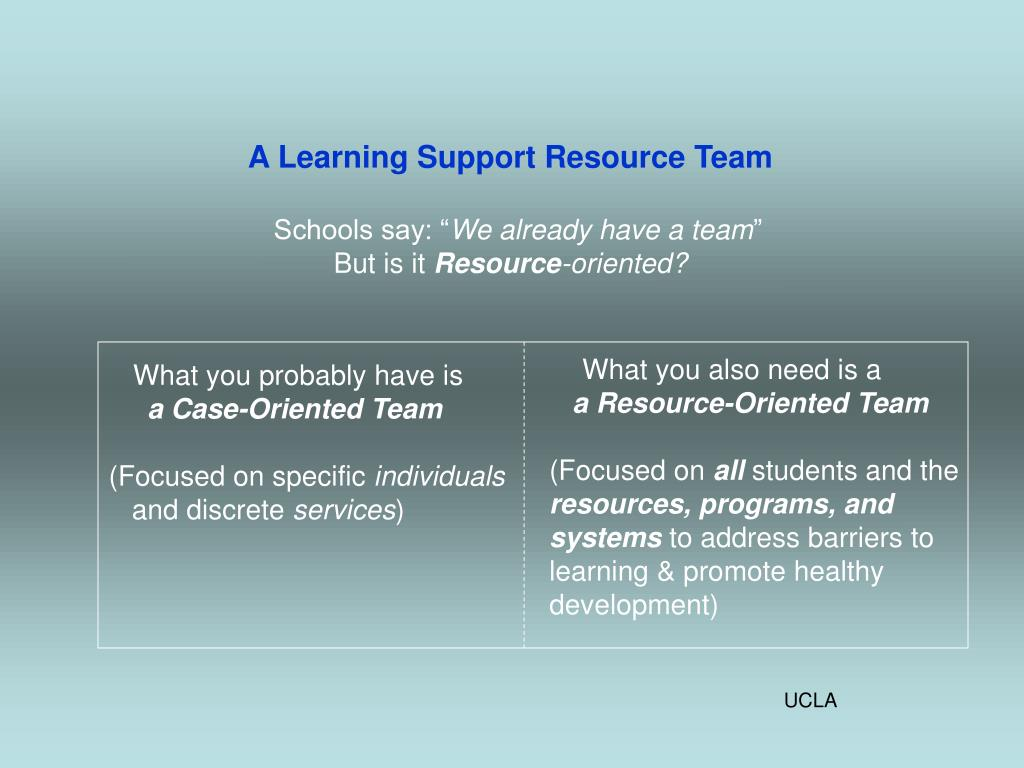 A Learning Support Resource Team