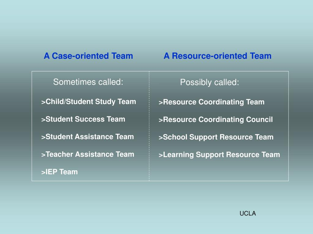 A Case-oriented Team