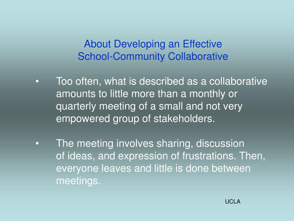 About Developing an Effective