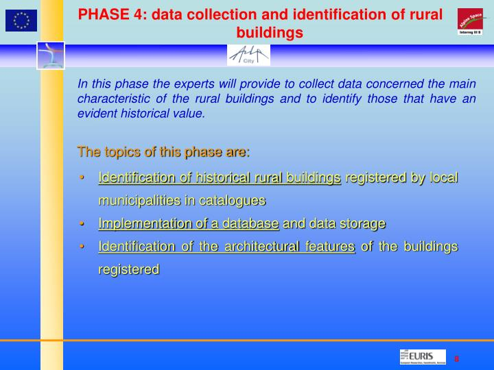 PHASE 4: data collection and identification of rural buildings