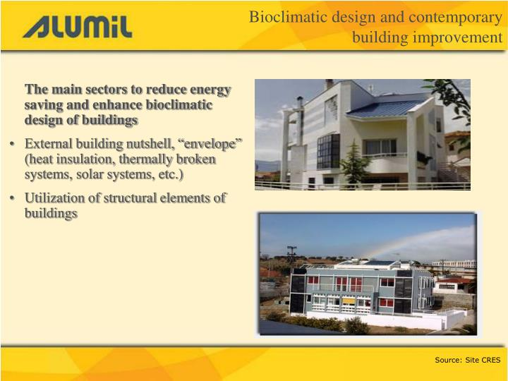 Bioclimatic design and contemporary building improvement