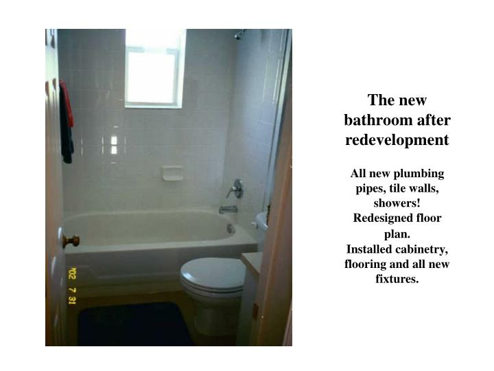 The new bathroom after redevelopment