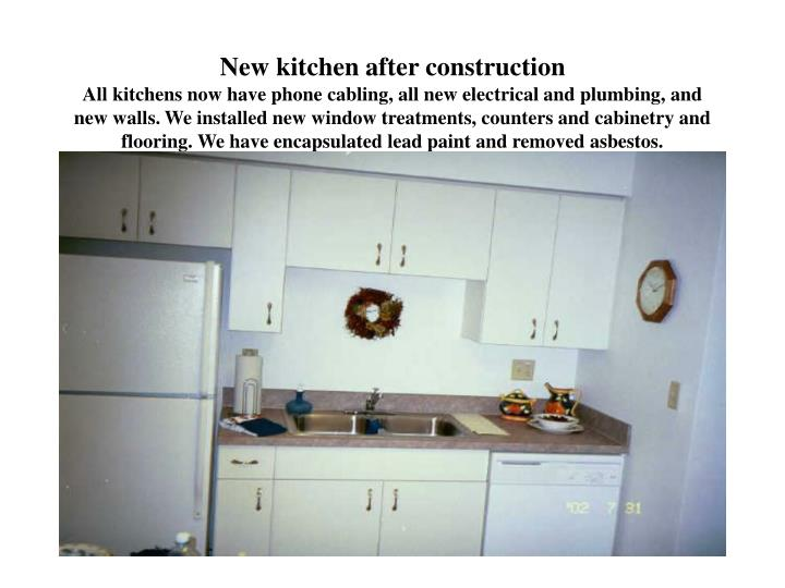 New kitchen after construction