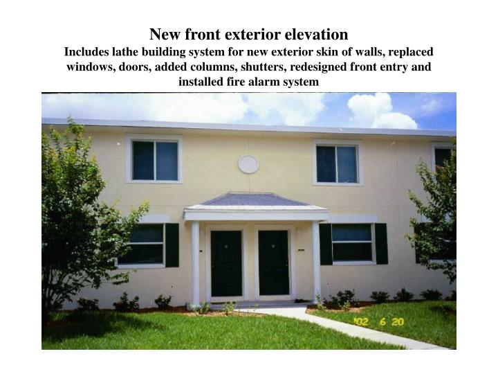 New front exterior elevation