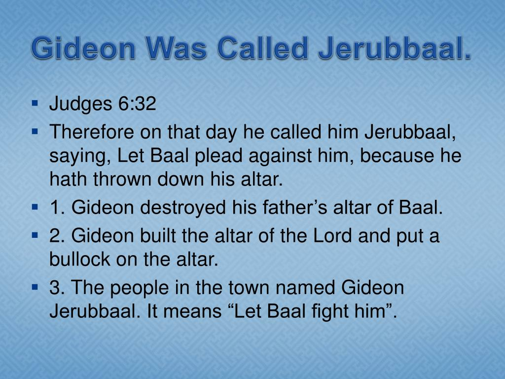 Gideon Was Called