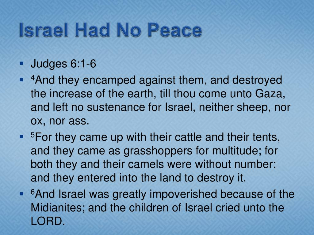 Israel Had No Peace