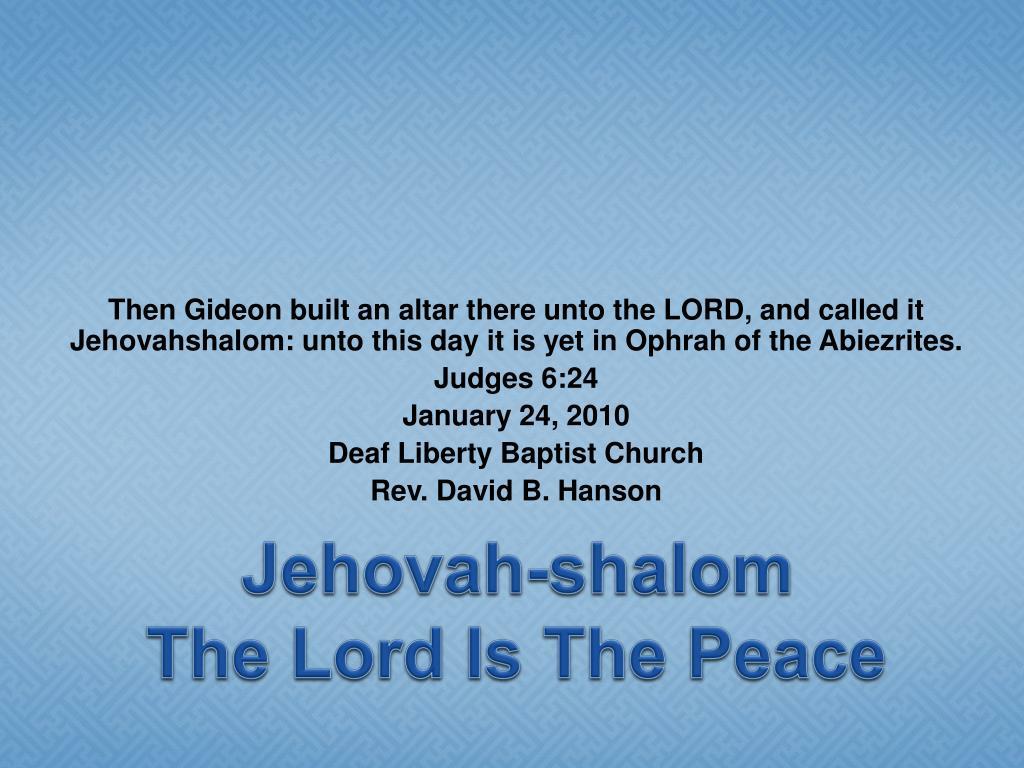 Jehovah-shalom