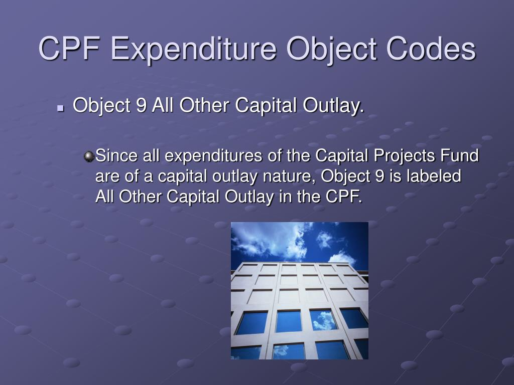 CPF Expenditure Object Codes