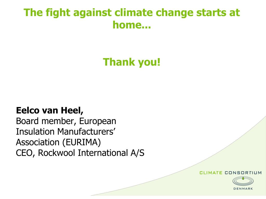 The fight against climate change starts at home...
