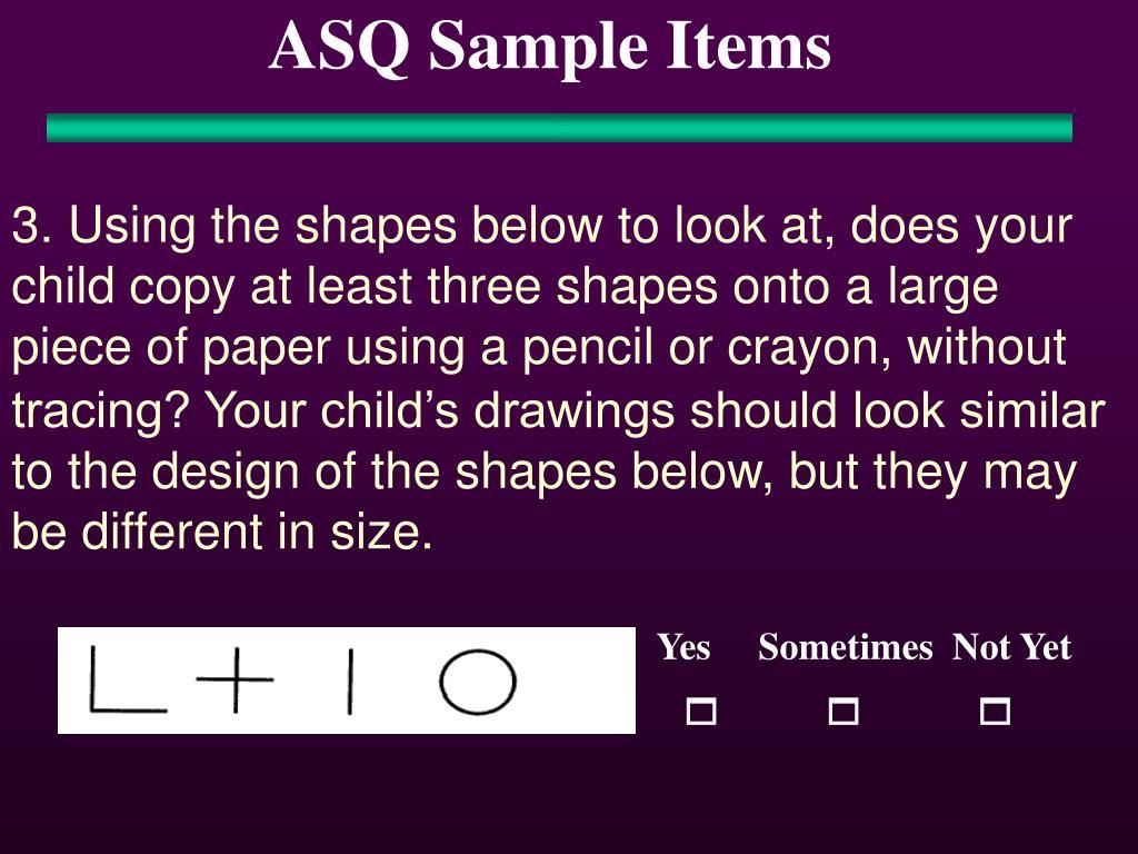 ASQ Sample Items