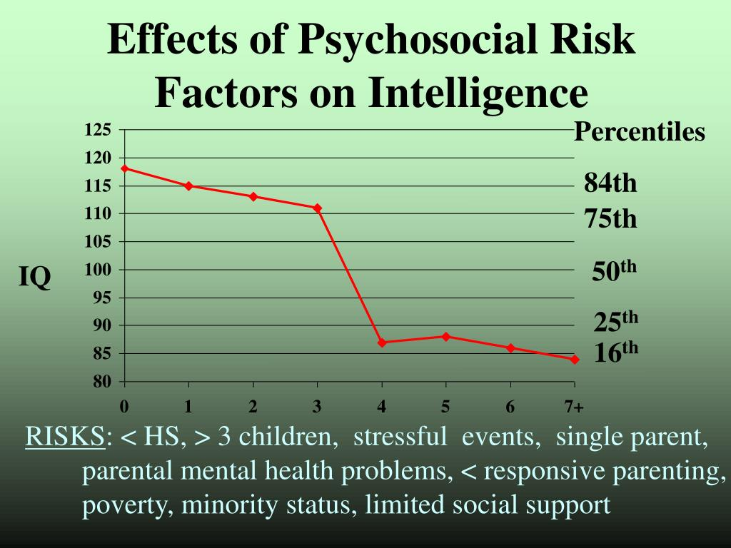 Effects of Psychosocial Risk Factors on Intelligence