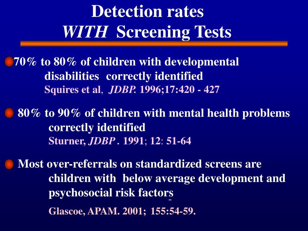 Detection rates