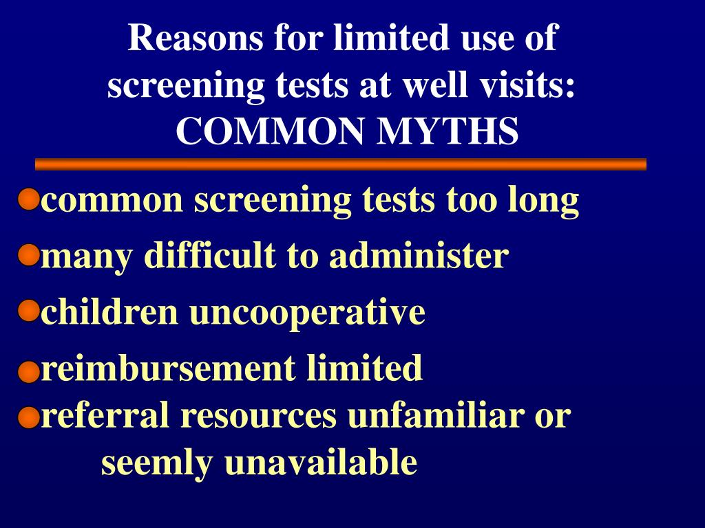 Reasons for limited use of
