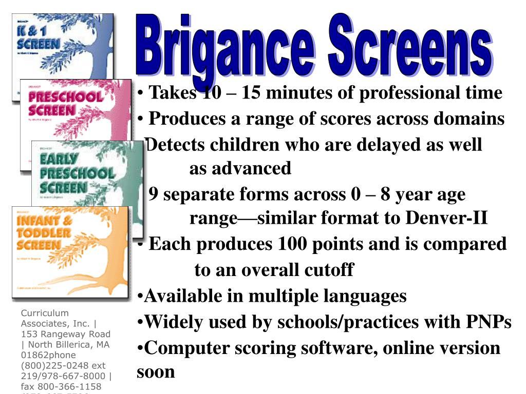 Brigance Screens