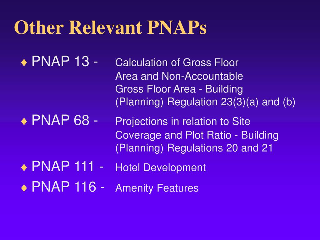 Other Relevant PNAPs