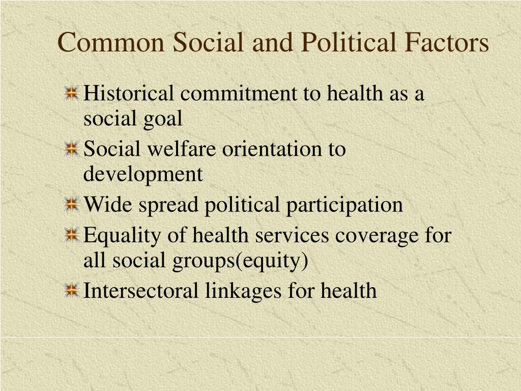 Common Social and Political Factors