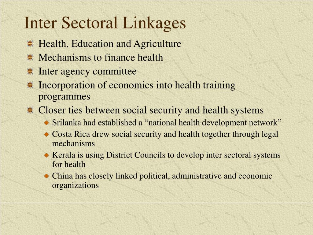 Inter Sectoral Linkages