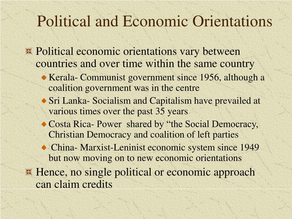Political and Economic Orientations