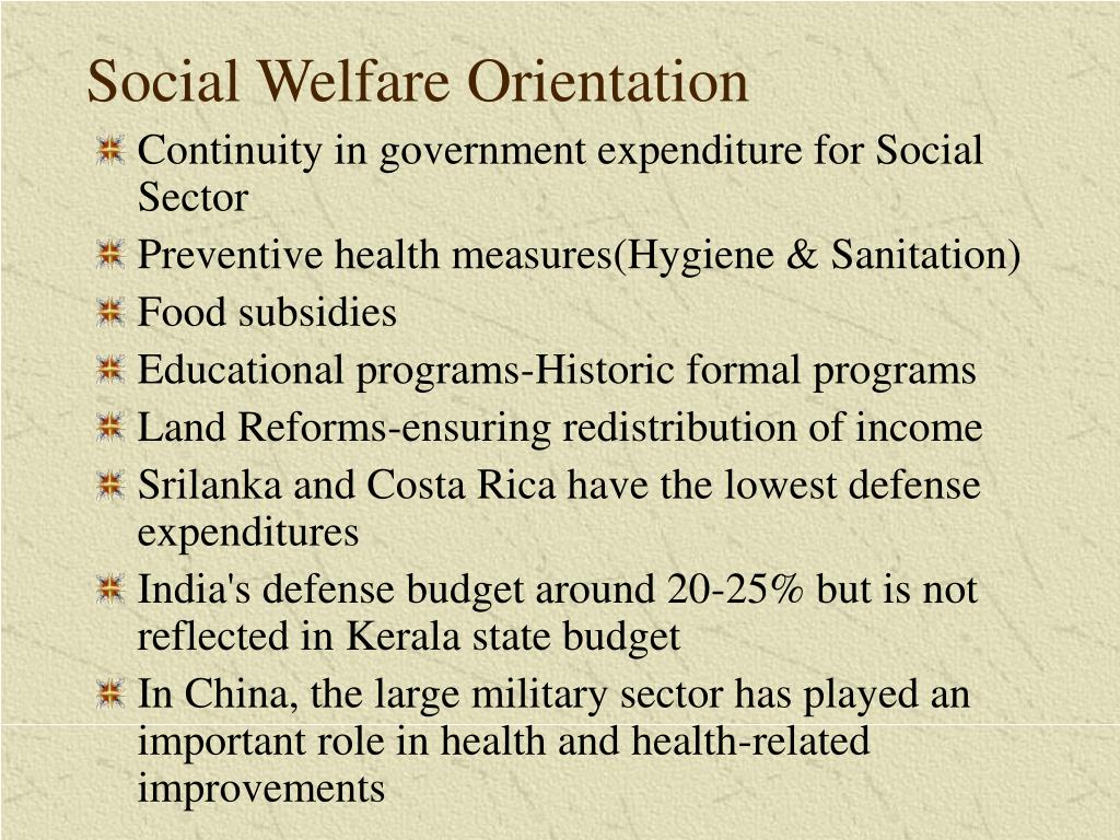Social Welfare Orientation