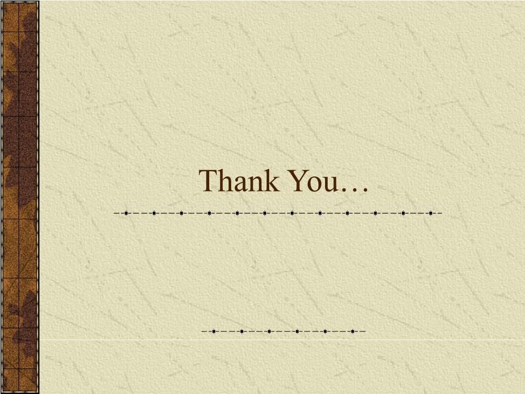 Thank You…