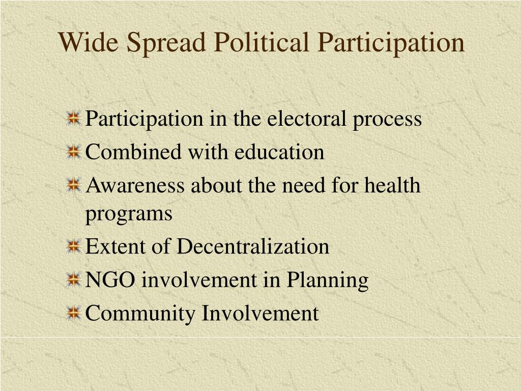 Wide Spread Political Participation
