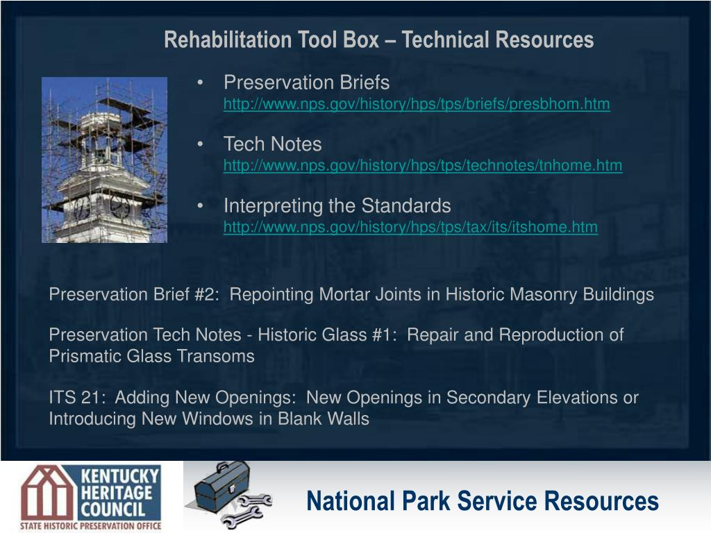 National Park Service Resources