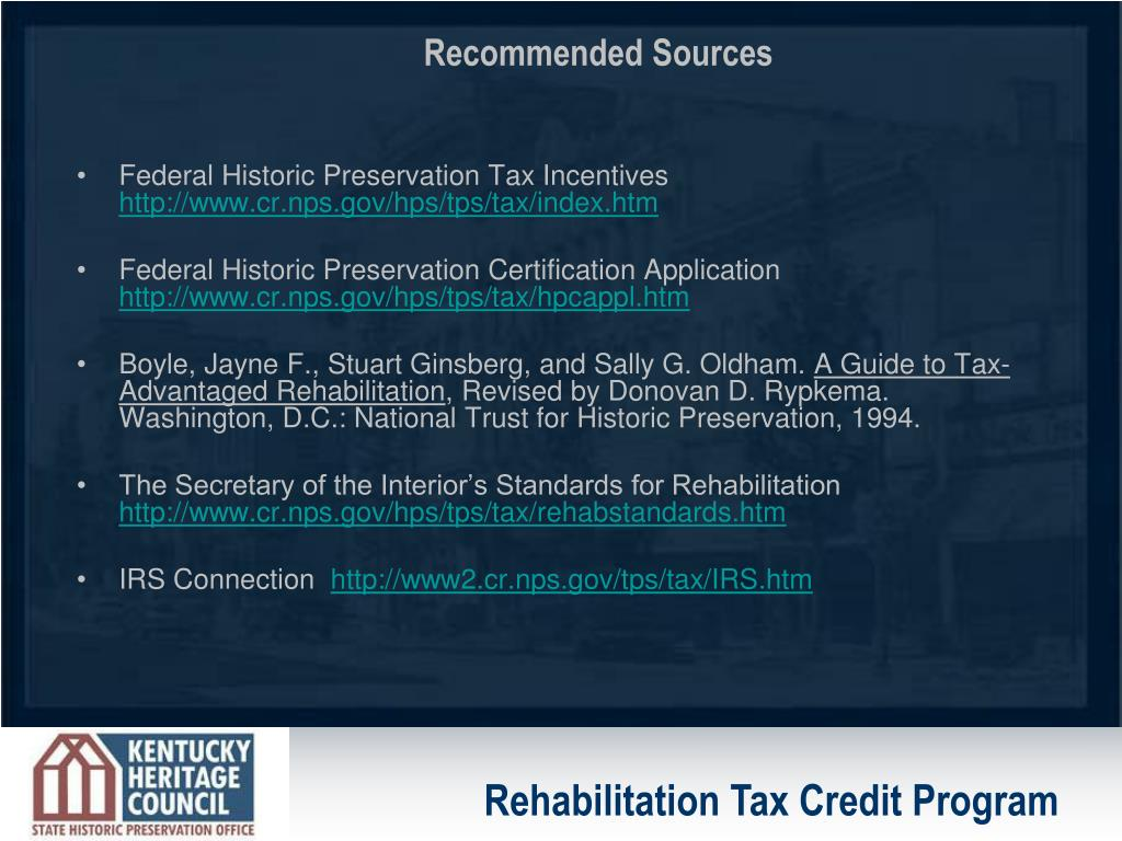 Federal Historic Preservation Tax Incentives