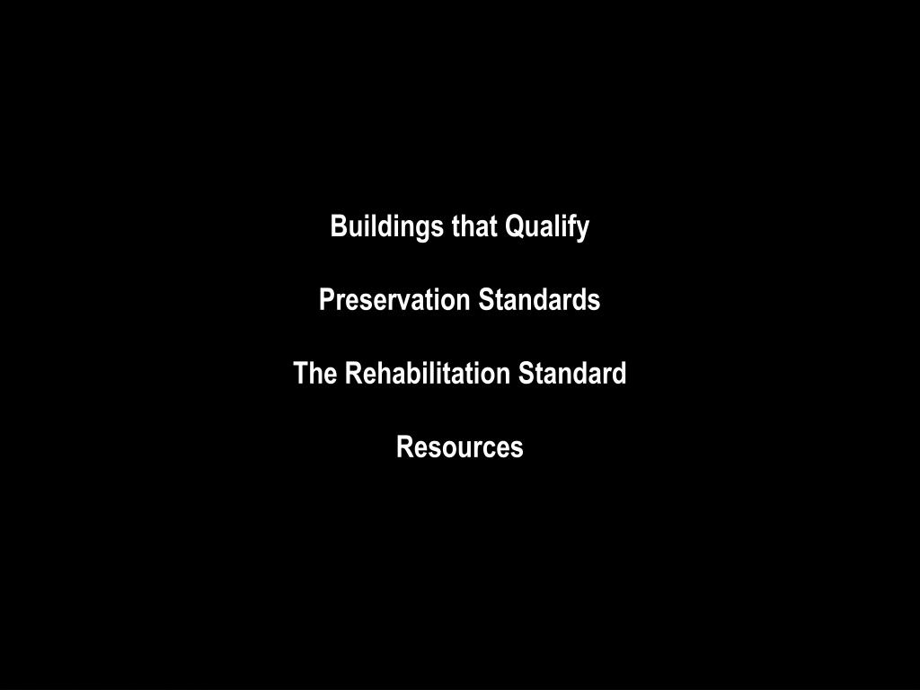 Buildings that Qualify