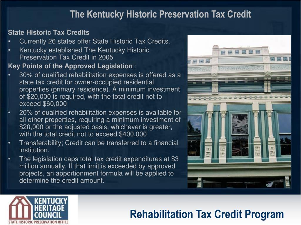 State Historic Tax Credits