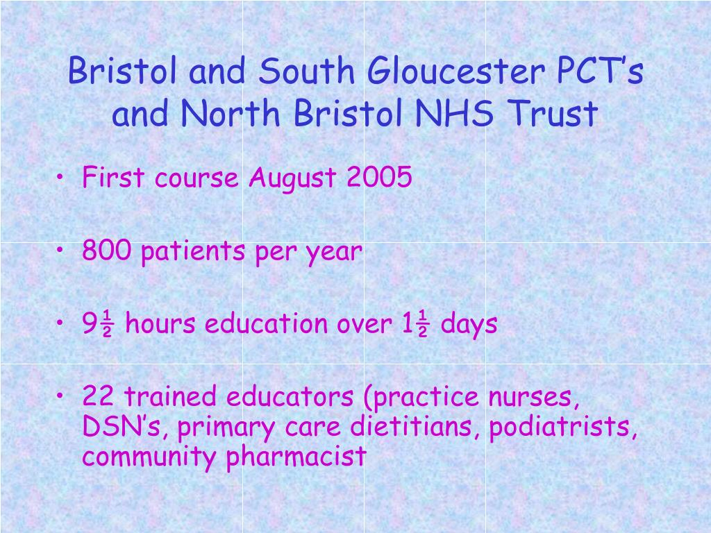 Bristol and South Gloucester PCT's and North Bristol NHS Trust