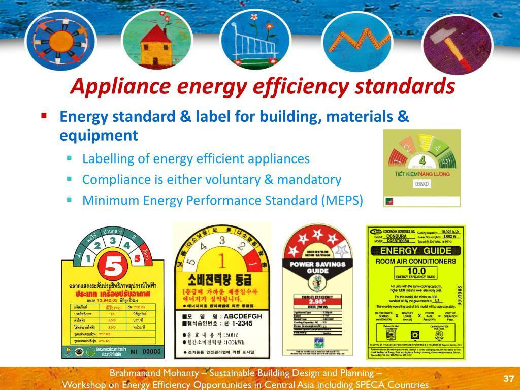 Energy standard & label for building, materials & equipment
