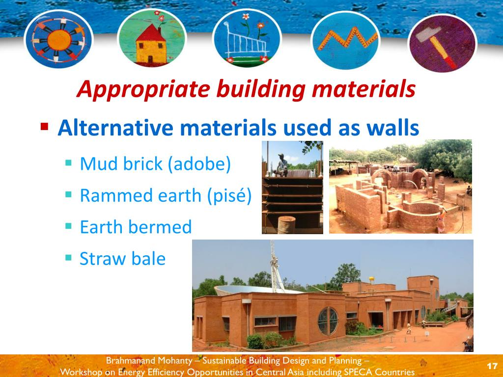 Alternative materials used as walls