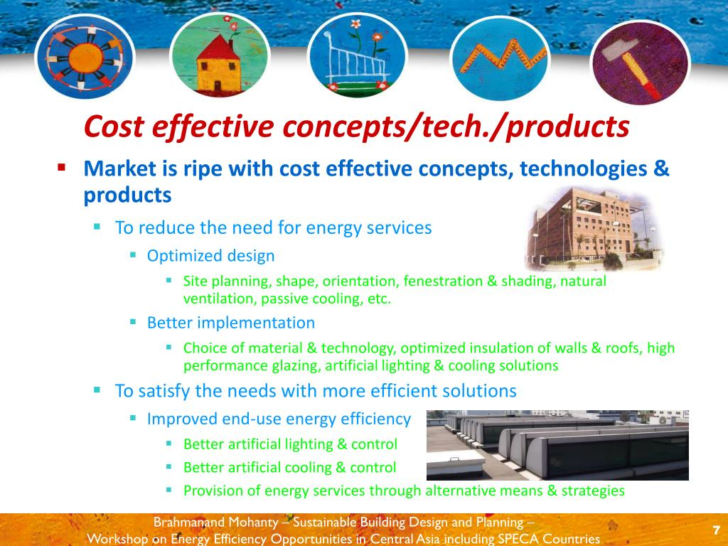 Market is ripe with cost effective concepts, technologies & products